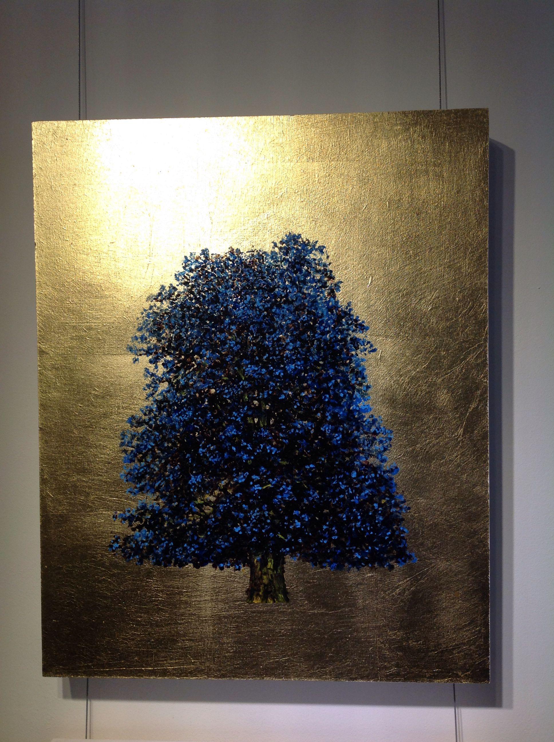 Blue On Gold #Oil #Painting #Nature #Contemporaryart #Goldleaf #Jackframe
