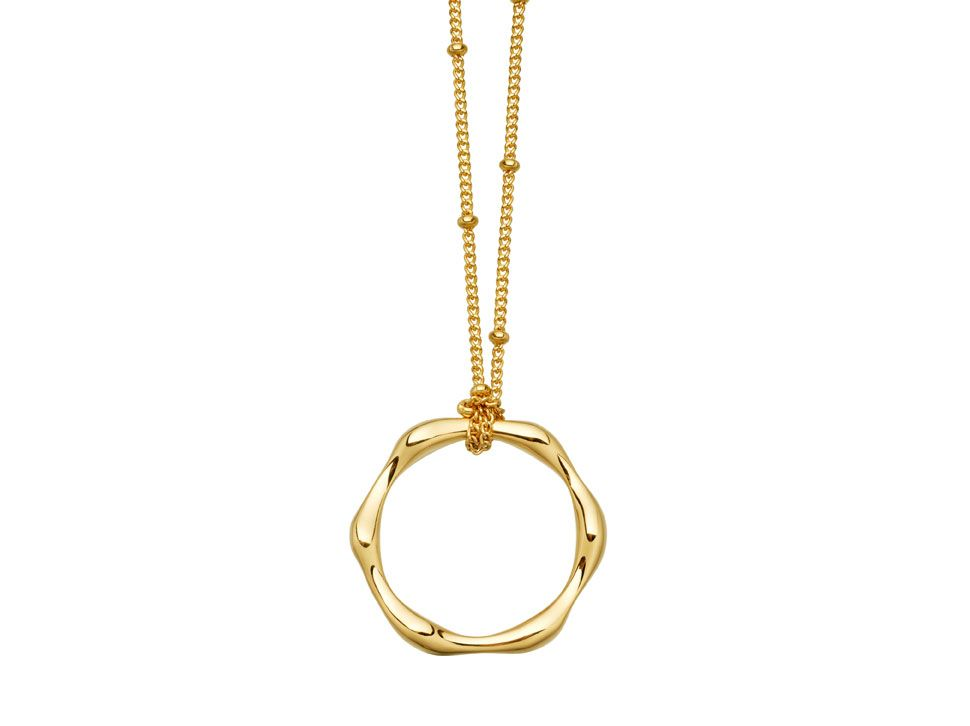Gold Molten Necklace On Bobble Chain View Missoma S Stunning Designer Jewellery Collections Including Engravable Friendship Bracelets Delicate Diamond