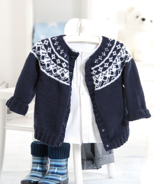 Baby Fair Isle Yoke Cardigan | KnitSMC.com | Knit Clothing For ...
