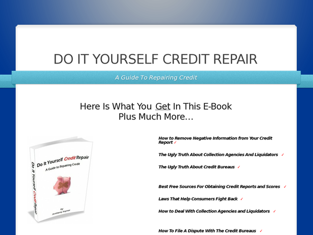 Do it yourself credit repair e book free credit repair information do it yourself credit repair e book free credit repair information at http solutioingenieria Gallery