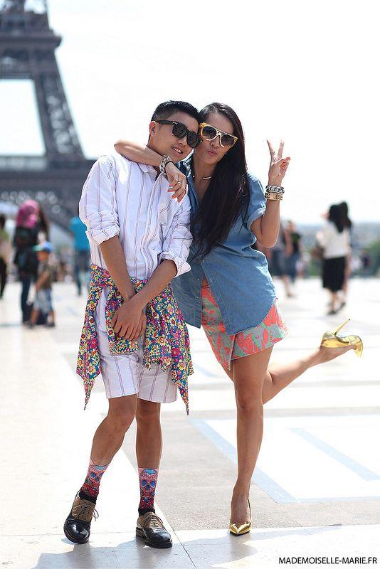 #DeclanChan and #TinaLeung at #ParisFashionWeek menswear day 2 #PFW #streetstyle
