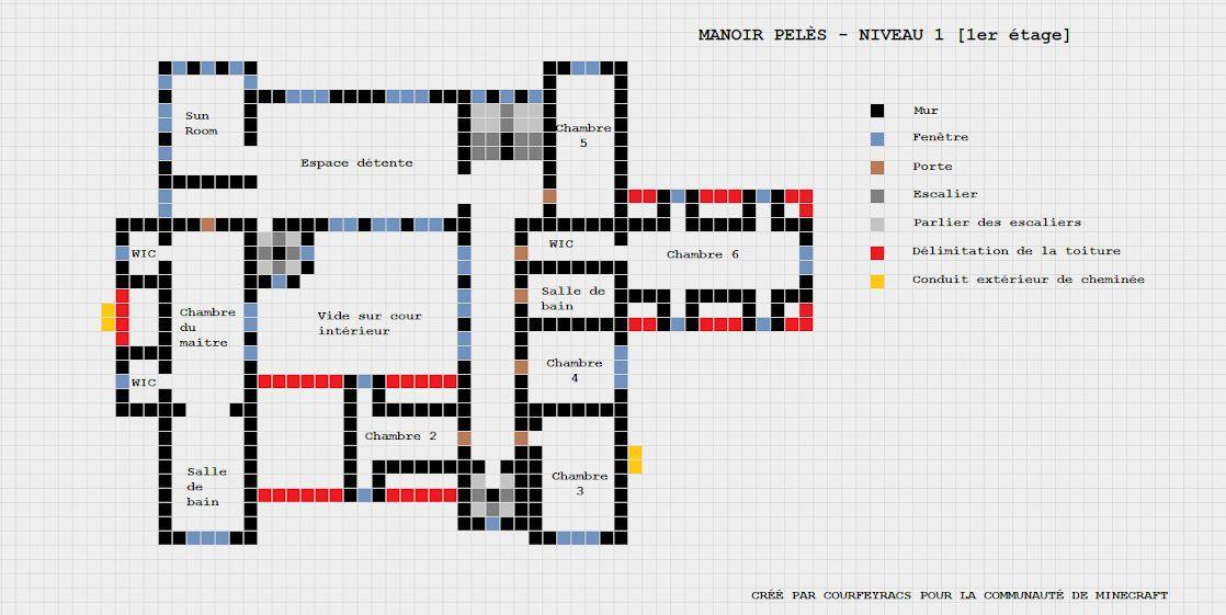 Maison Minecraft Plan De Construction  Minecraft modern, Modern