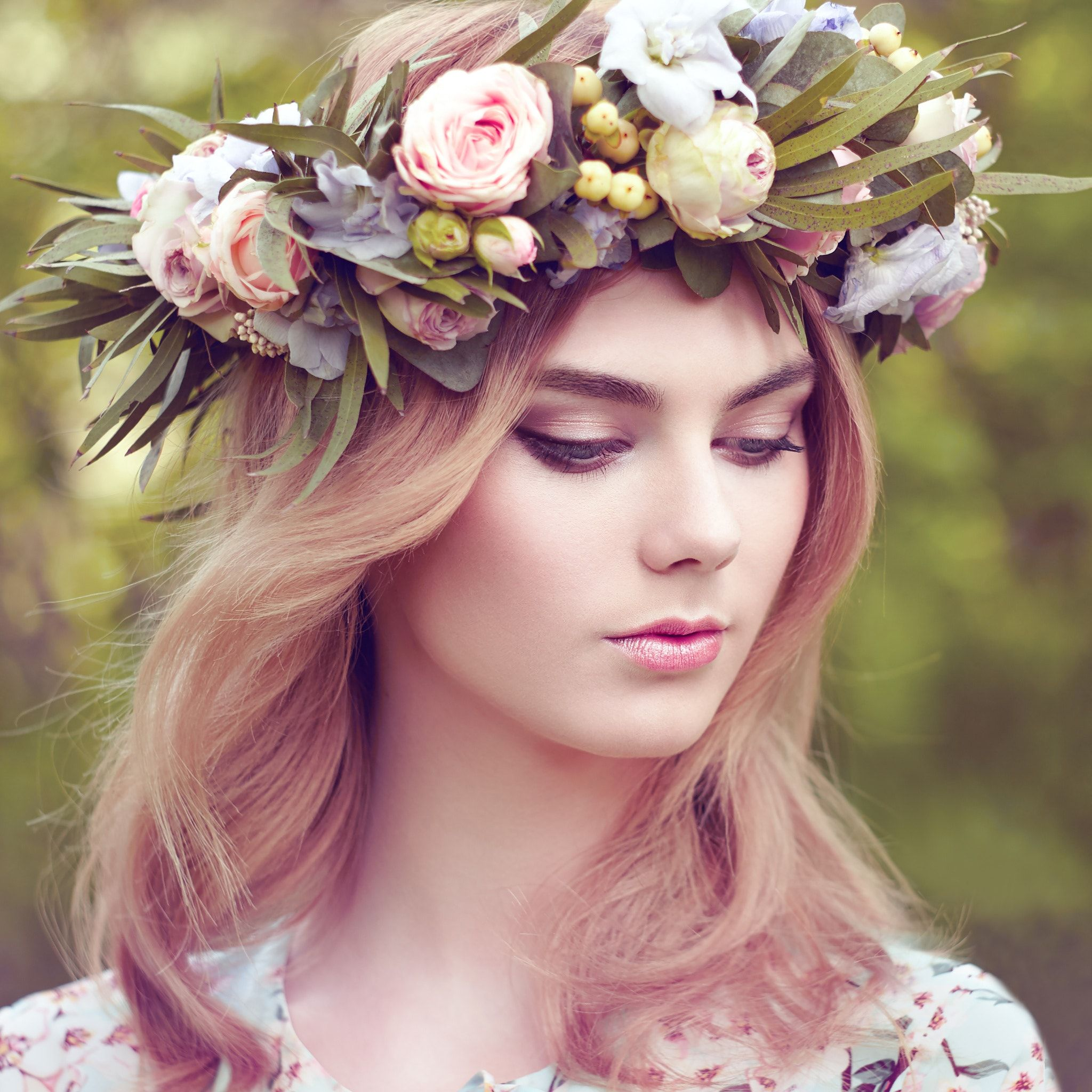 Beautiful blonde woman with flower wreath on her head beautiful beautiful blonde woman with flower wreath on her head beautiful blonde woman with flower wreath on her head beauty girl with flowers hairstyle izmirmasajfo