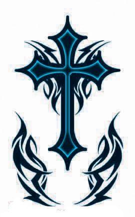 74bbbeade Pin by Rhiannon Martinez on Ink love | Tribal cross tattoos, Cross ...