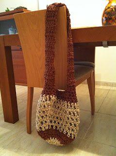 EL DESVÁN DE LOS AMIGURUMIS: Patrón de bolso de verano para trapillo o cuerda