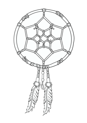 Native American Dreamcatcher coloring page | Coloring pages ...