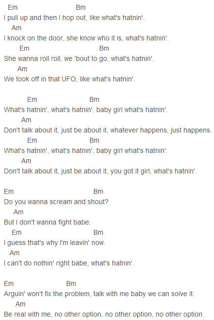 Justin Bieber Whats Hatnin Chords Capo 2 Justin Bieber