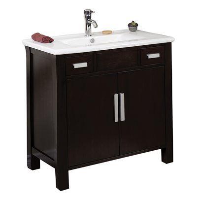 American Imagination Drake 36-in Bathroom Vanity with Ceramic Top
