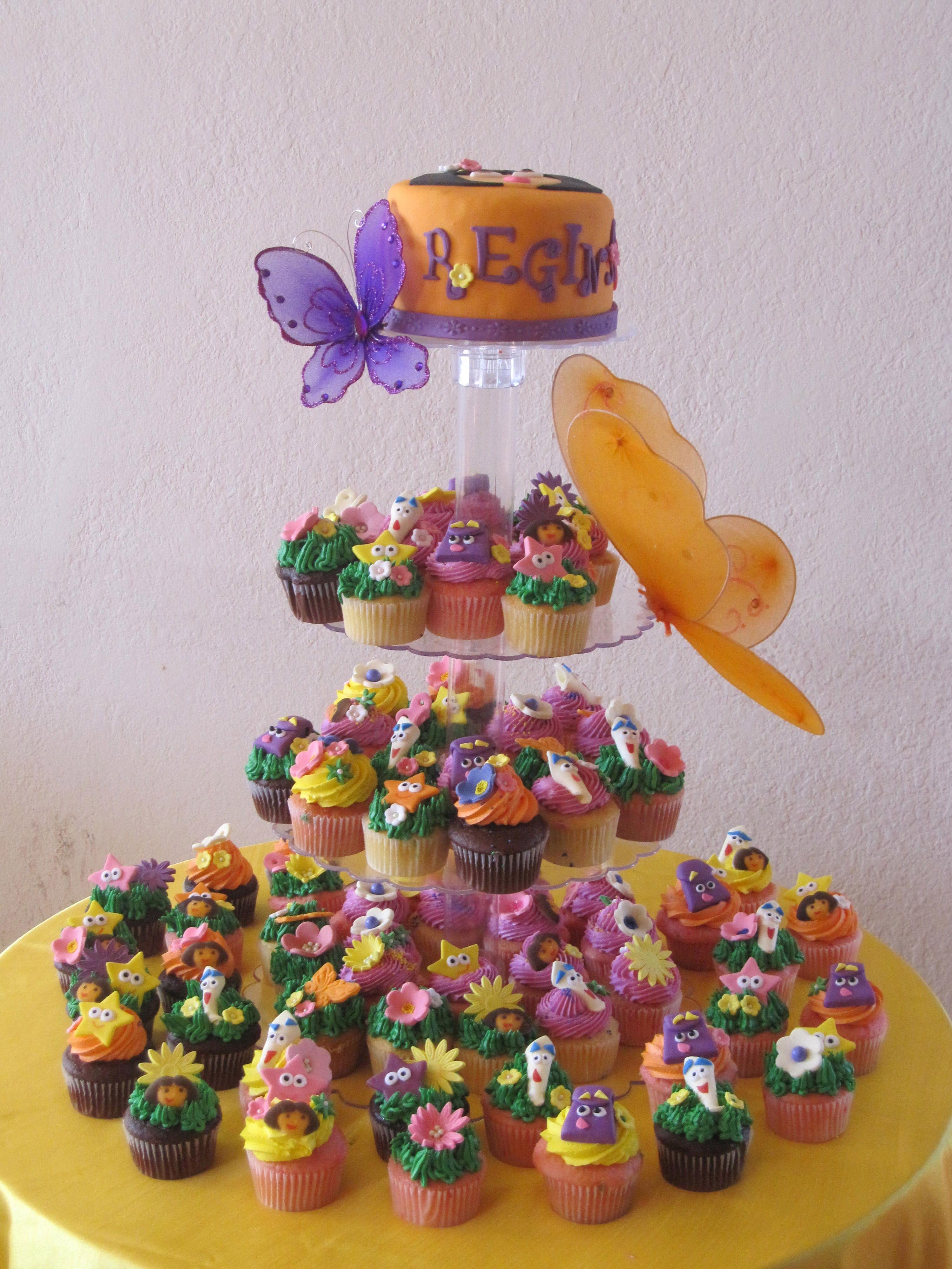 dora the explorer cakes birthday Dora The Explorer Cupcake Tower