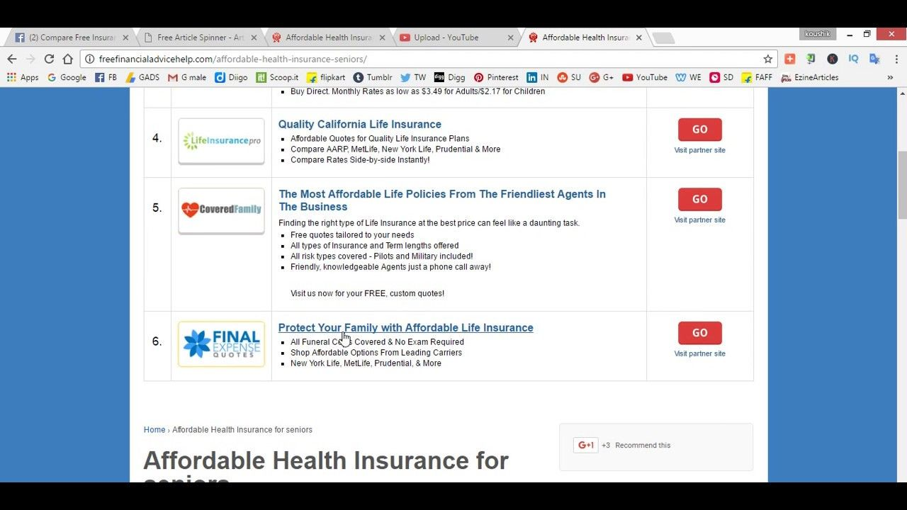 Affordable Health Insurance for seniors Over 55 to 76