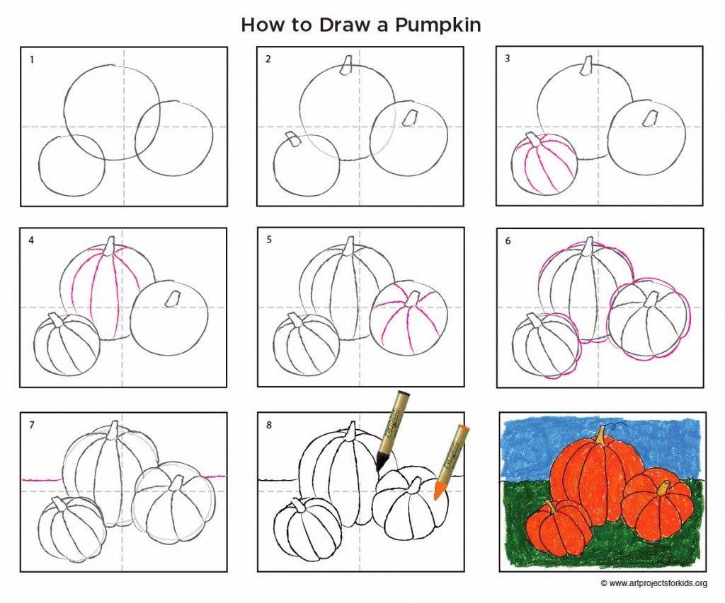 Uncategorized How Do You Draw A Pumpkin pumpkin steps for drawing pumpkins teaching stuff pinterest how to draw art projects kids