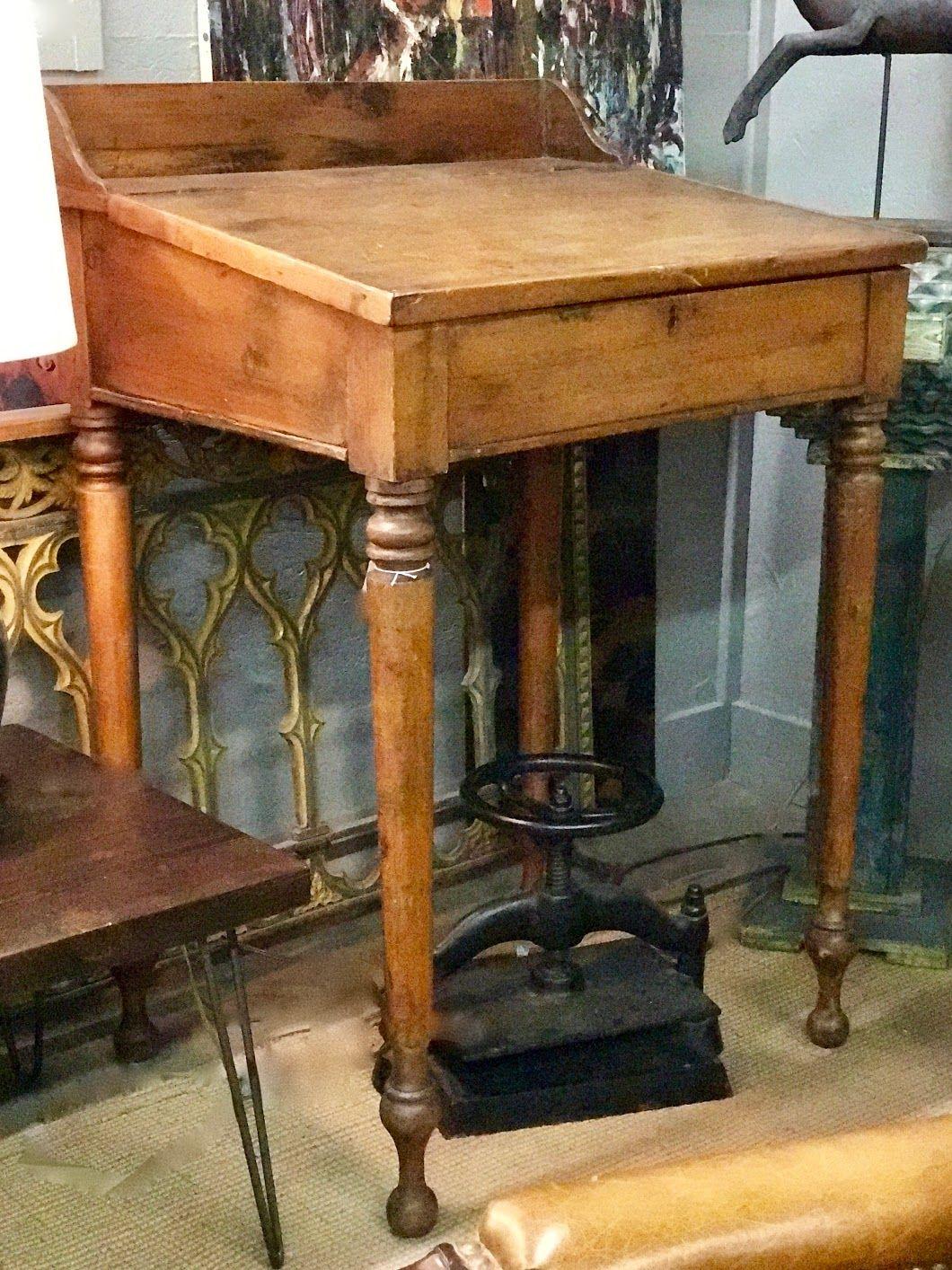 Antique Tall Pine Teachers Desk or Host Podium Stand On Sale 31.5