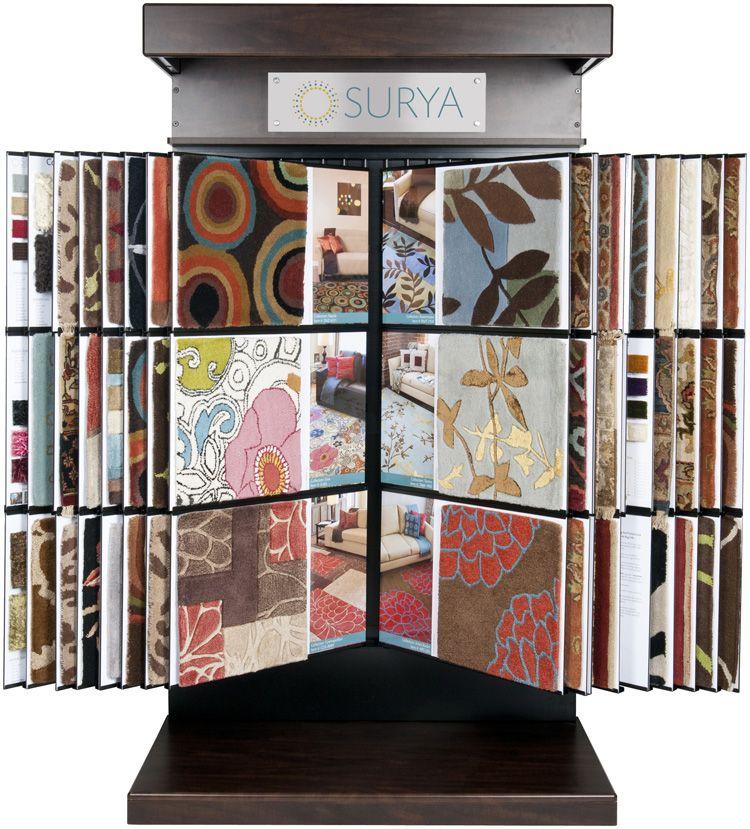 A Surya Design Center Display Rack Is