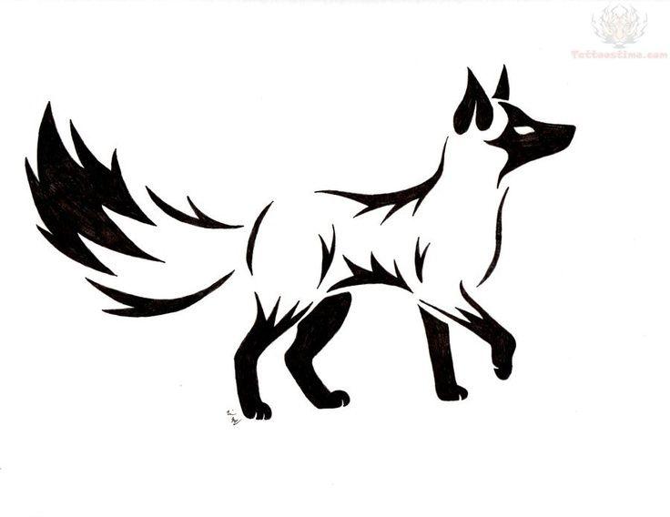 Line Drawing Fox : Diy: fox. free paper craft; stencil template pattern. cuts