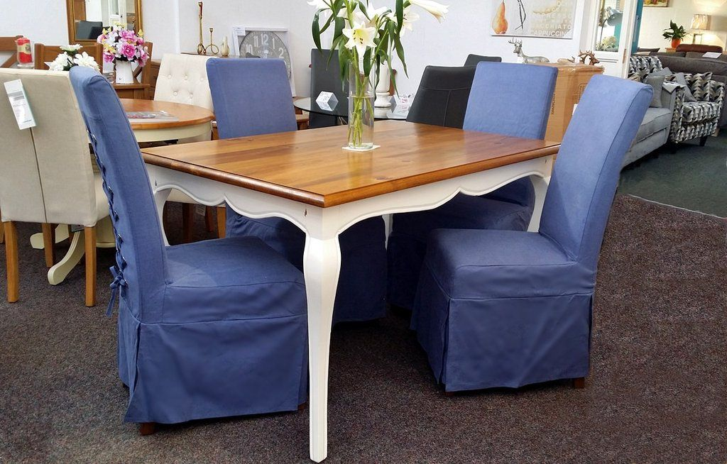 Amélie White French Style Dining Table Set  £659Rrp £1515 Amazing Clearance Dining Room Sets 2018