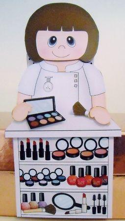 3D On the Shelf Card Kit - Glamorous Cosmetics Shop Assistant Nakita - Photo by Pam Stubley