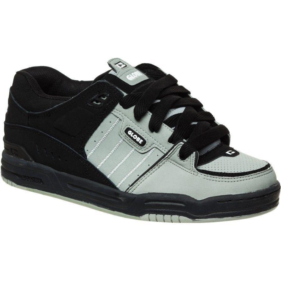New Globe Fusion Skateboard Skate Shoes - Neutral Grey/Black
