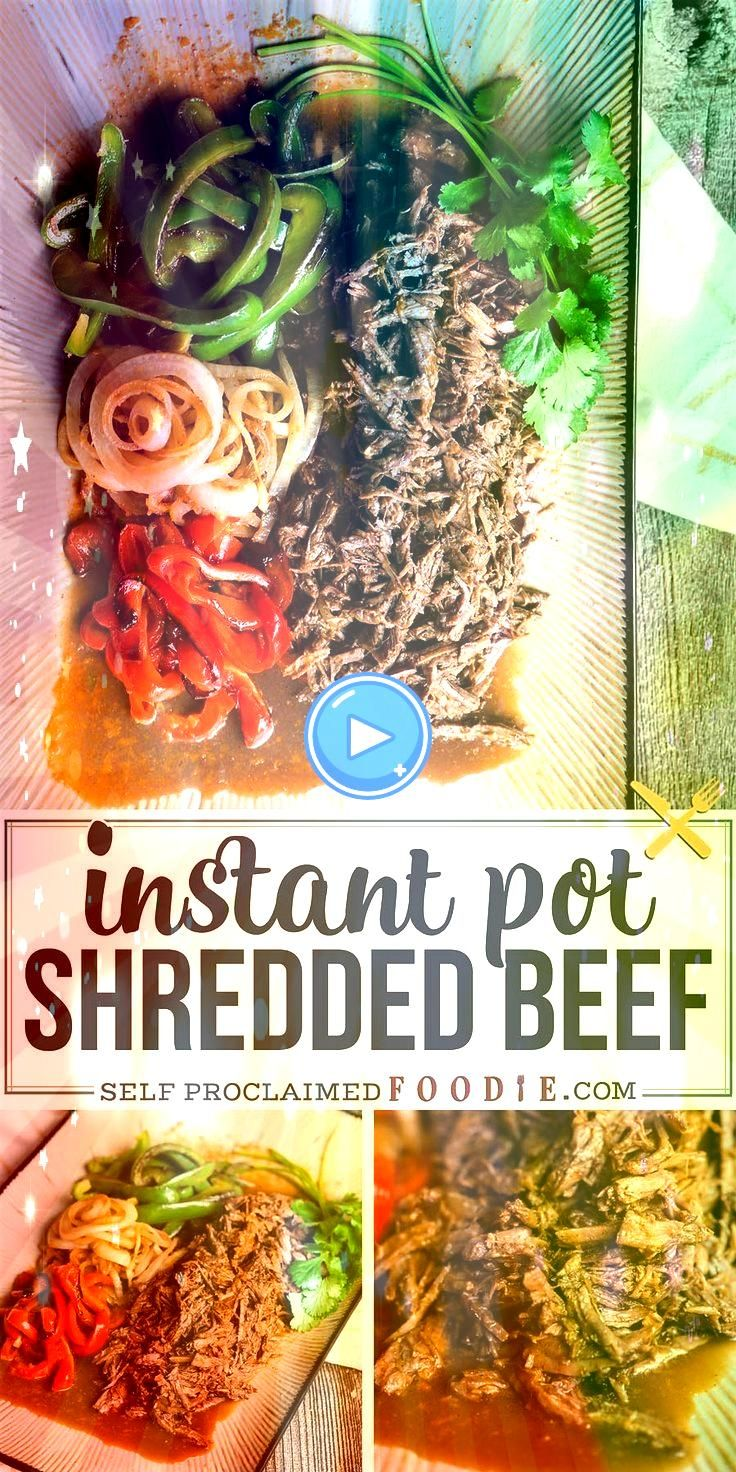 Pot Shredded Beef with peppers and onions is one of the best pressure cooker dinner recipes Transform your chuck roast into this delicious mealInstant Pot Shredded Beef w...
