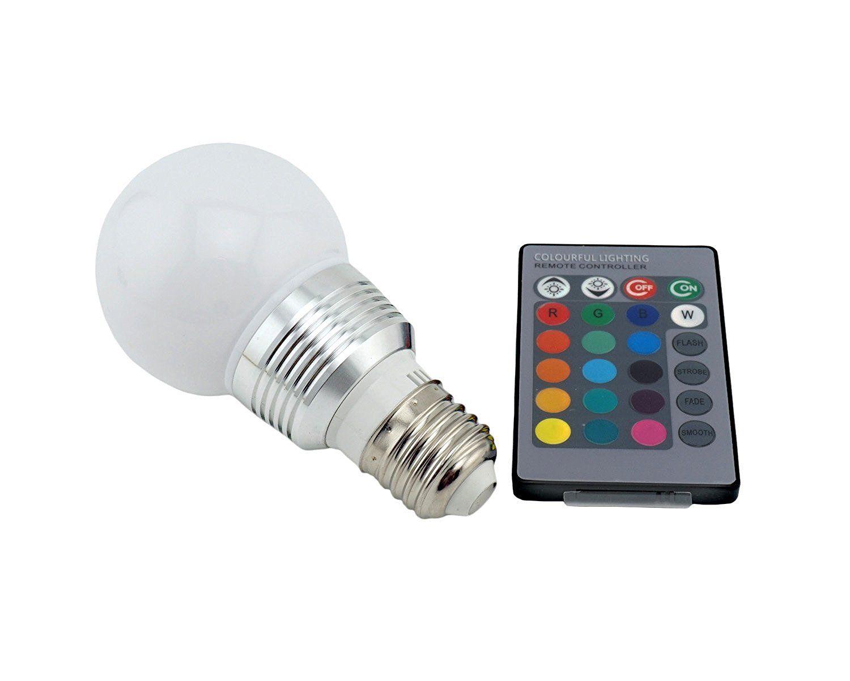 Bonlux 2-Pack 3W RGB E12 Candelabra LED Bulb, 16 Colors 4 Modes ...