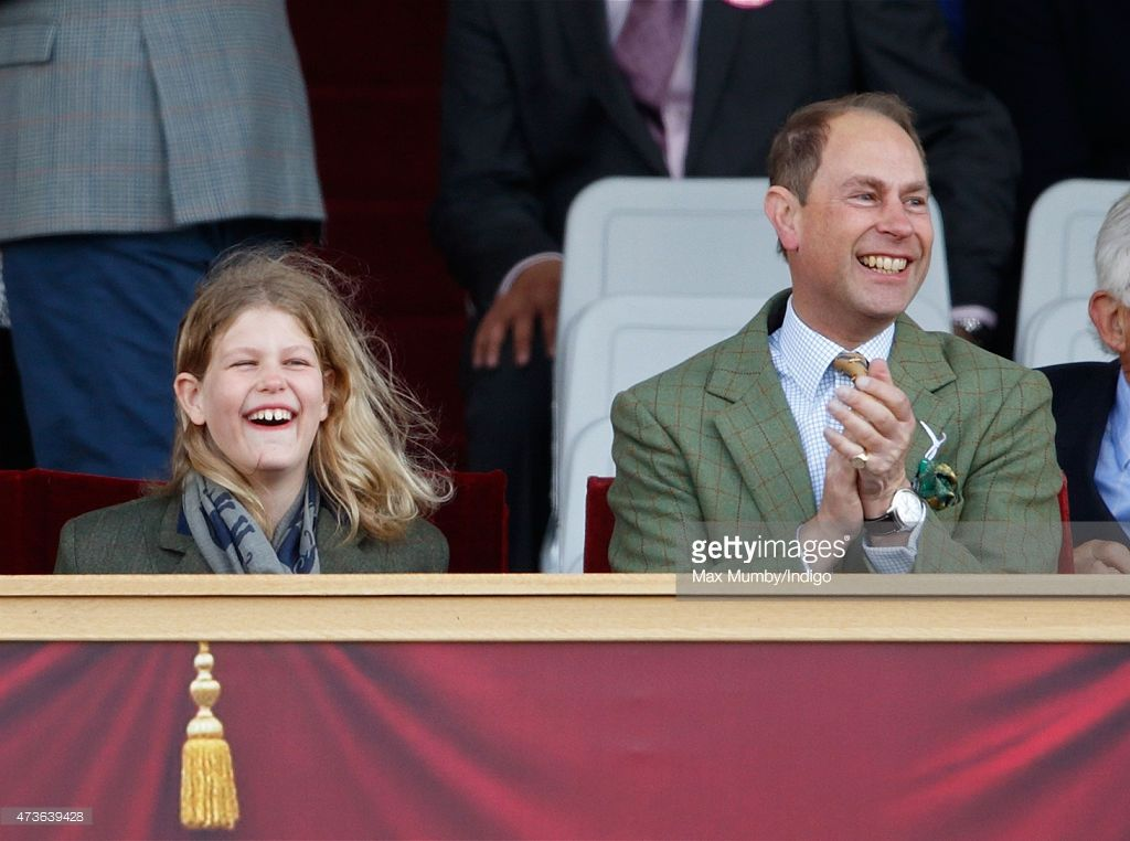 Lady Louise Windsor And Prince Edward Earl Of Wessex Watch The Pony Club Mounted Games As They Attend Day 4 Royal Horse Show In Home Park On