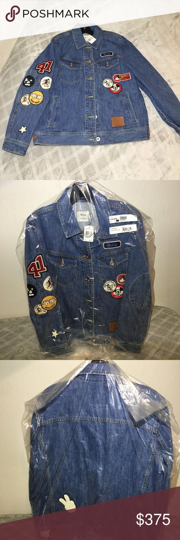 Coach Disney Mickey Patches Jean Jacket F59549 Jean Jacket Patches Patched Jeans Jackets For Women [ 1740 x 580 Pixel ]