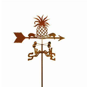 Pineapple Welcome Weathervane RoofTop Flavor Pinterest