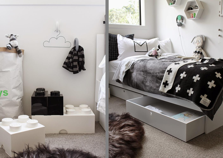 Un dormitorio infantil estilo nordico en blanco y negro for Dormitorio juvenil estilo nordico
