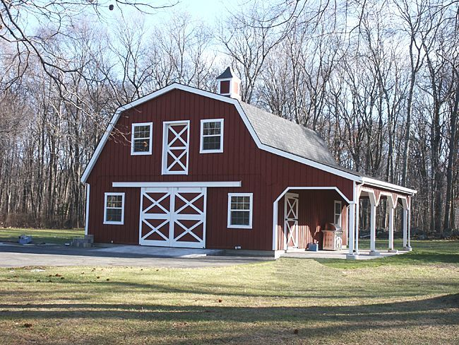 Barn Style Homes Custom Barn With Gambrel Roof  Wide Overhang And Loft
