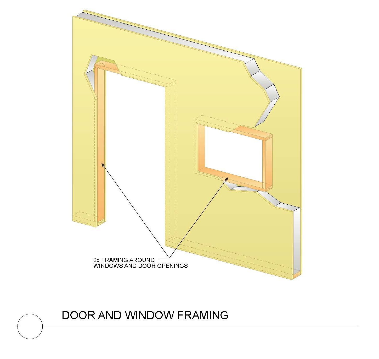 Structural insulated panel door and window detail home for Where to buy sip panels