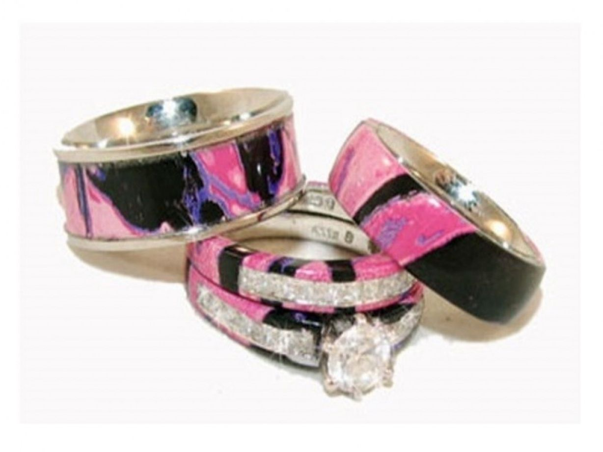 Real Diamond Camo Wedding Ring Sets Ring Pinterest Camo