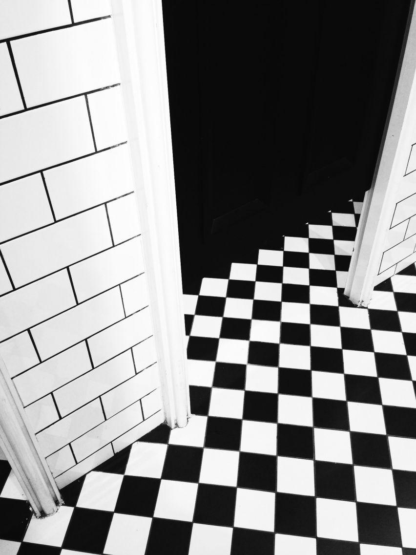 Black White Tile Farrsnasar Vsco Black And White Aesthetic