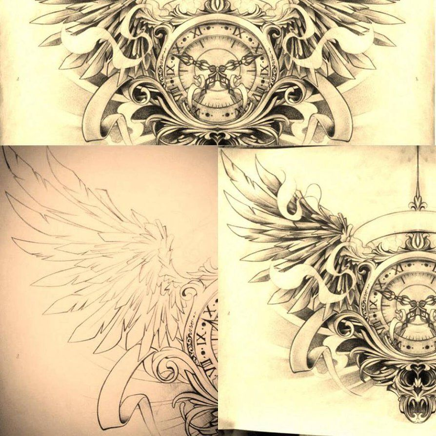 Tattoo Designs Sketches: ***DEFINITELY WANT***Timeless... Chest Tattoo By