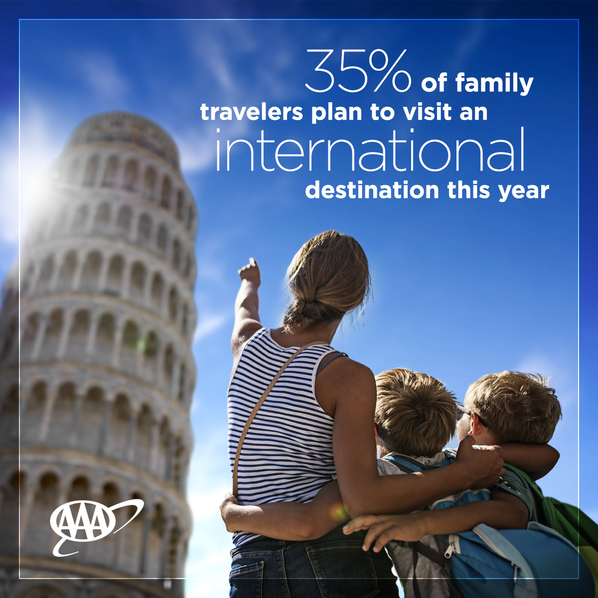 International travel is a hot trend for family vacations