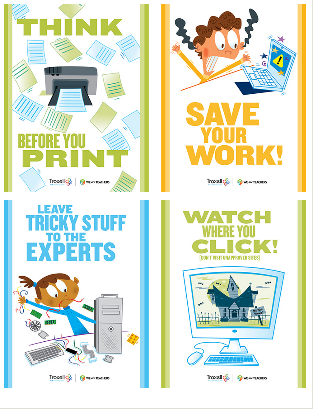 8 Must Have Classroom Posters for Technology Best Practices ...