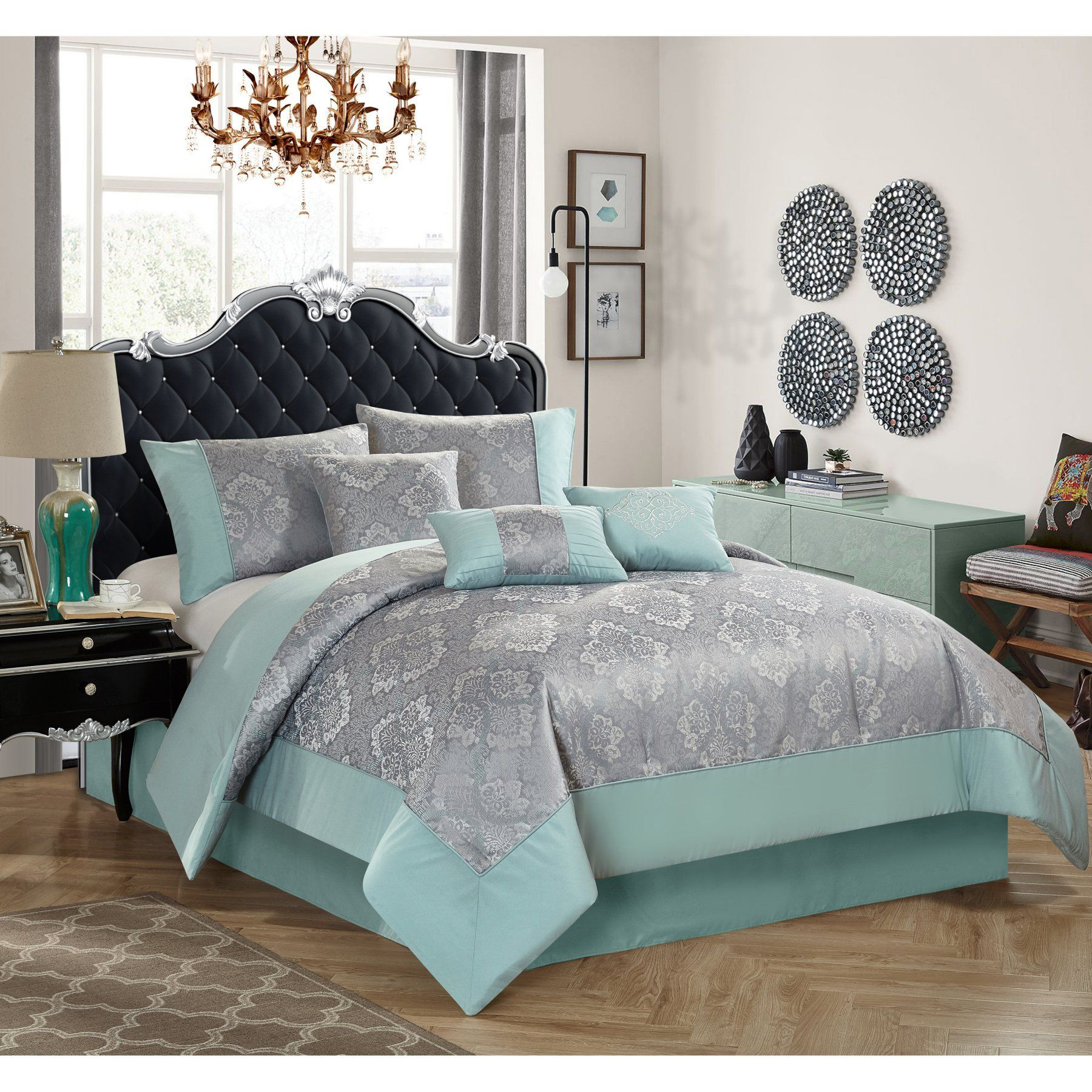 Best Mint Ogee 7 Piece Comforter Set By Better Homes And 640 x 480