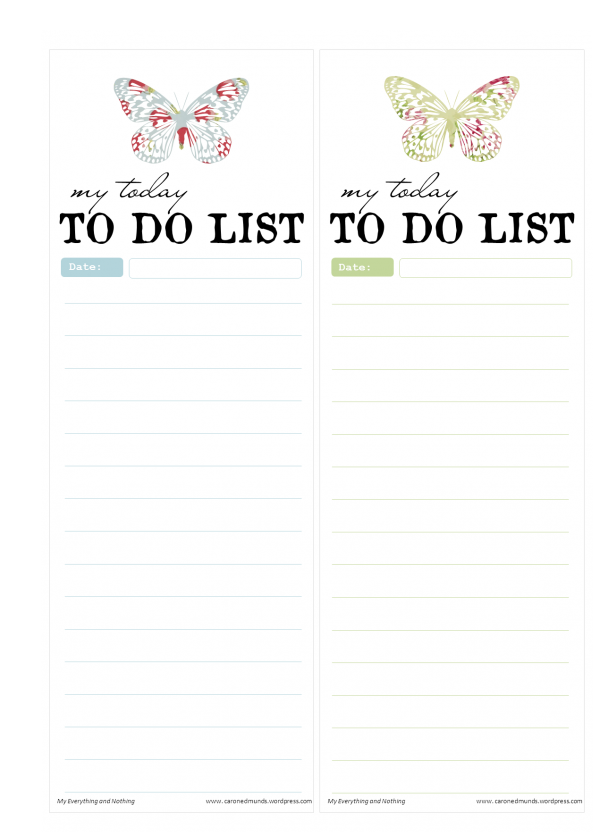 vintage butterfly notepads to do lists printable free printables printable