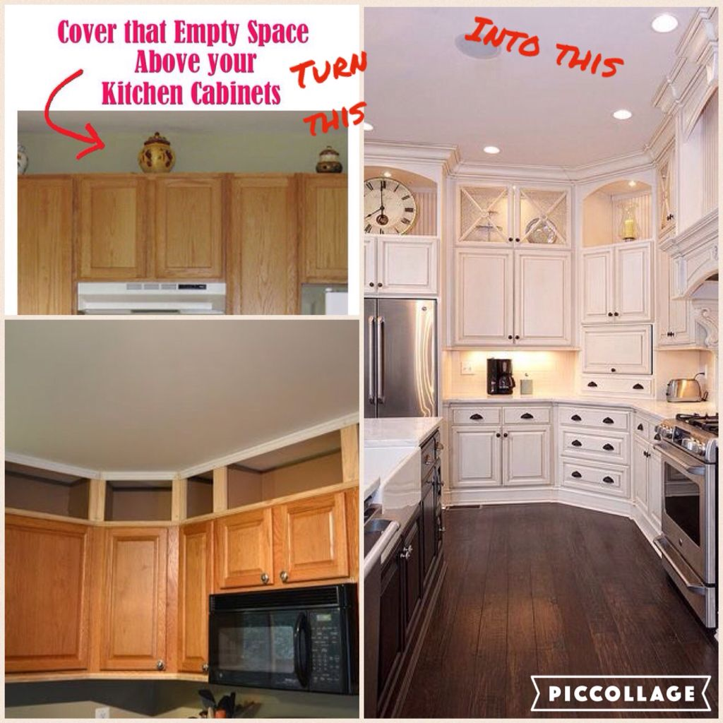 Cover that empty space with clear cabinets and lights ...