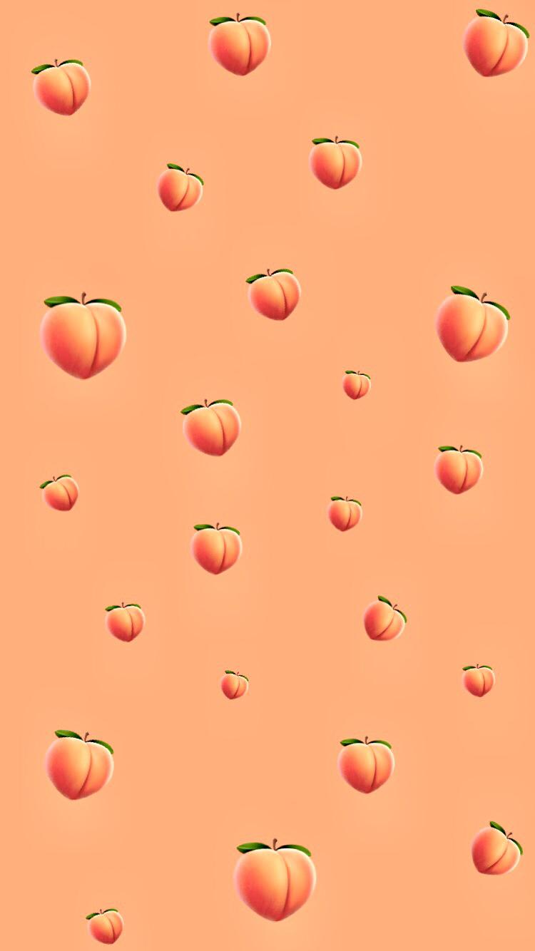 Pin By Oanh Nguyễn On Wallpapers Wallpaper Iphone Cute Emoji Wallpaper Peach Wallpaper