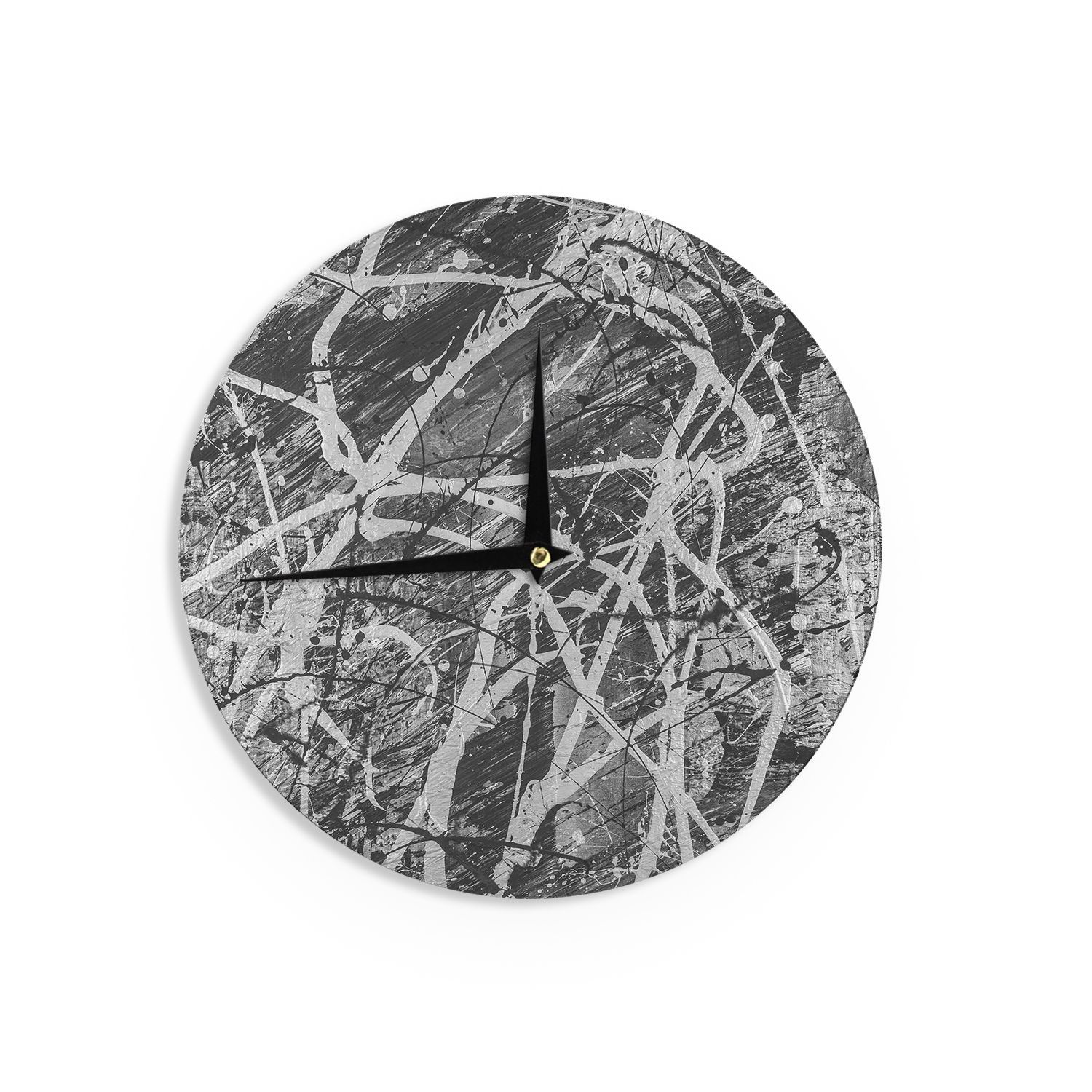 Kess inhousebruce stanfield verness in grayscale white black kess inhousebruce stanfield verness in grayscale white black wall clock verness in grayscale size 12 wood amipublicfo Image collections