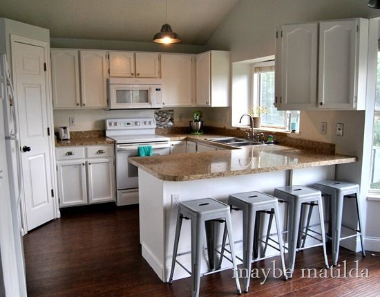 Love This Redone Kitchen!! White Cabinets Is The Way To Go!