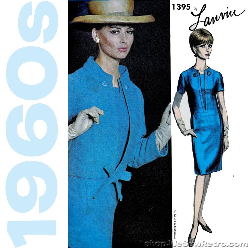 Vogue 1395 - 1960s Lanvin Vogue Paris Original Vintage Sewing Pattern