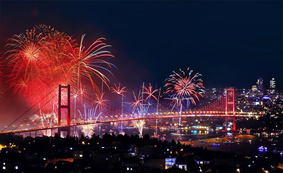 Happy New Year #Istanbul   Istanbul, Bosphorus bridge ...