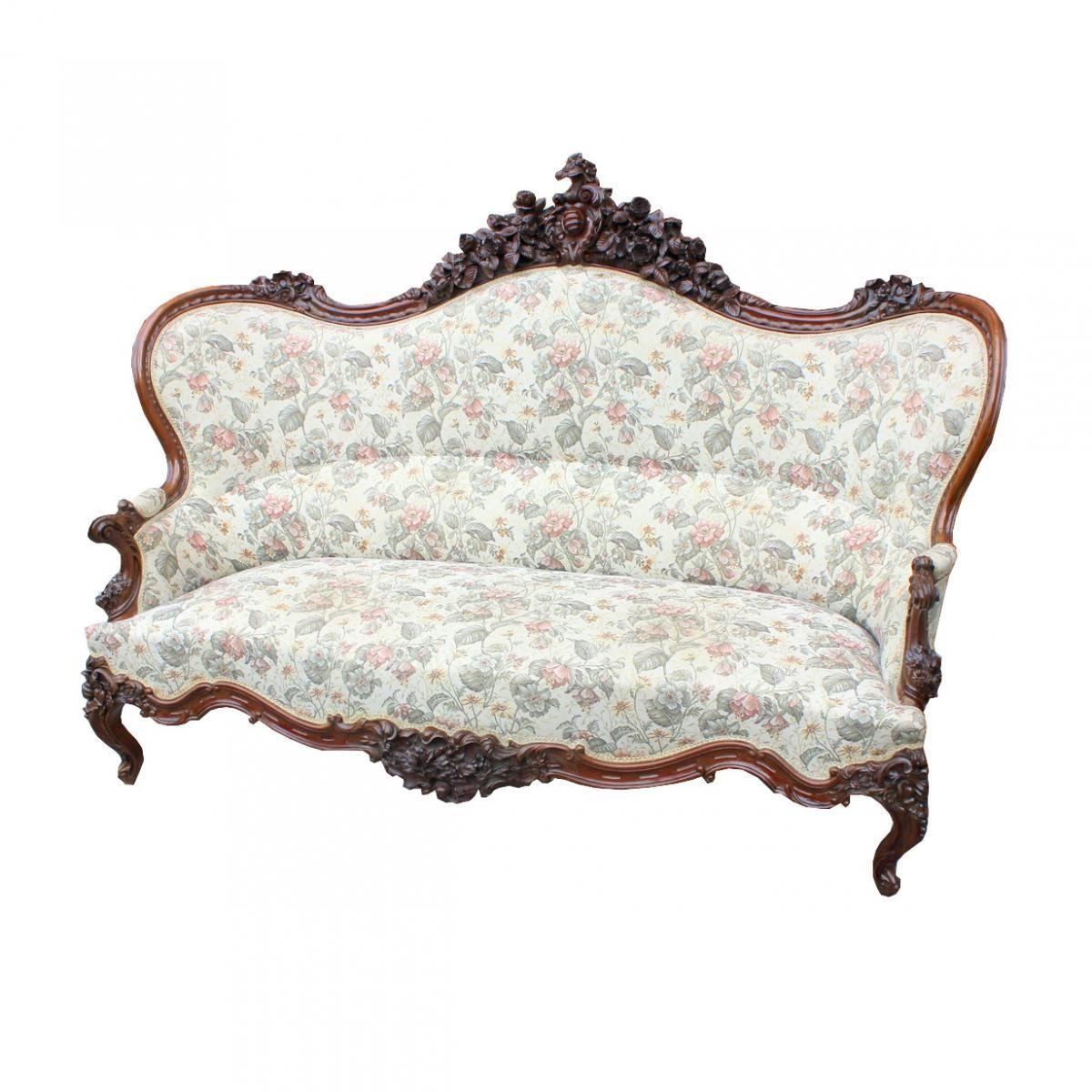 Canape Ancienne Du Xix Siecle France Borrelli Antichita Proantic Canape Antique Canape Ancien Meuble De Style