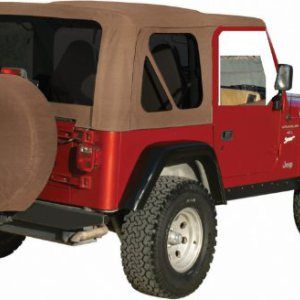 Spice Tan Soft Top For Tj Jeeps With Full Doors Jeep Wrangler