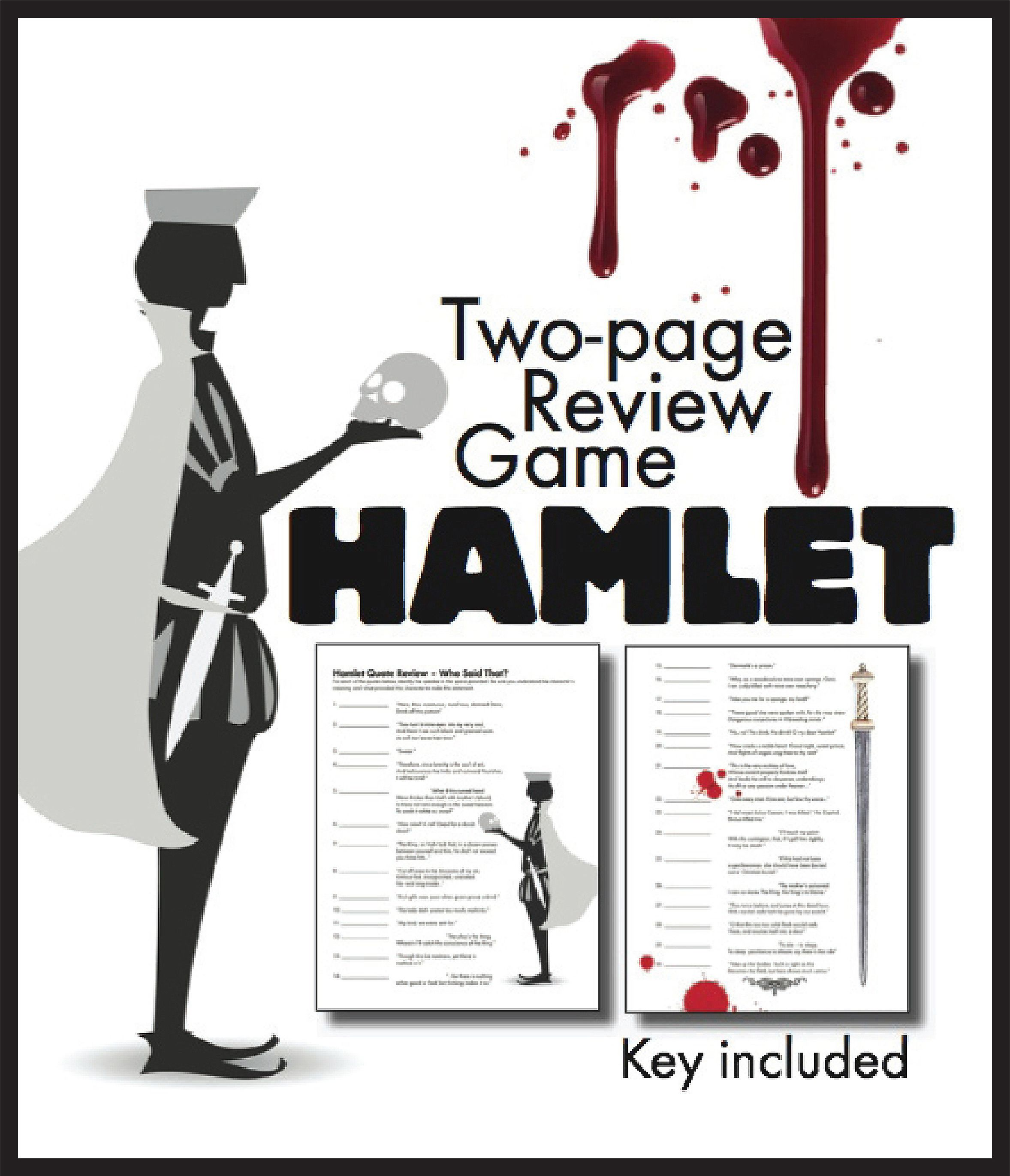 Hamlet Quote Review Worksheet Review Game Race For Shakespeare S Play