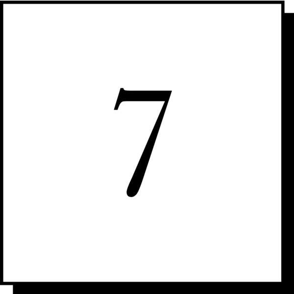Number 7 Liked On Polyvore Featuring Numbers Fillers Arrows