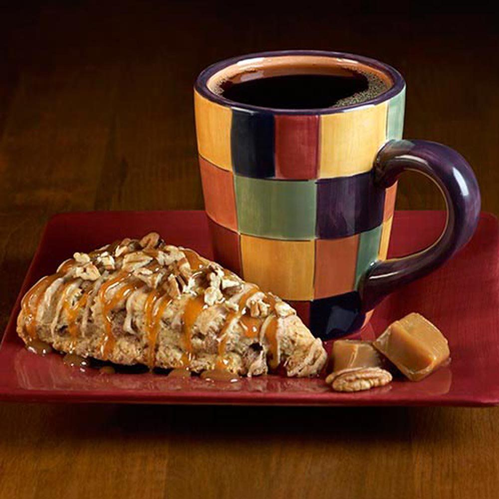 Door county coffee 10oz bags caramel pecan scone ground