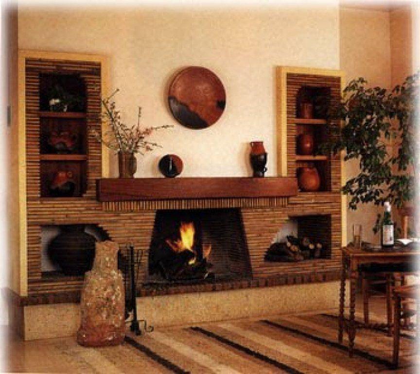 Chimeneas chimeneas pinterest casas campestres - Planos de chimeneas de ladrillo ...