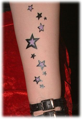 With Lavendar Star Tattoos Tattoo Designs For Girls Star Tattoo Designs