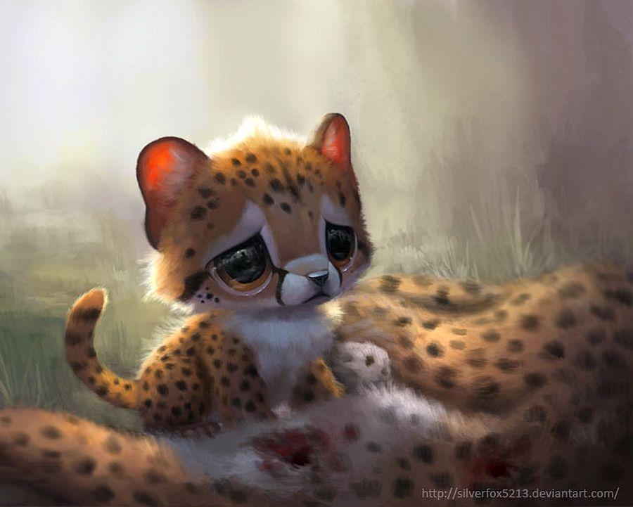 Добрым, смешные аниме картинки животных